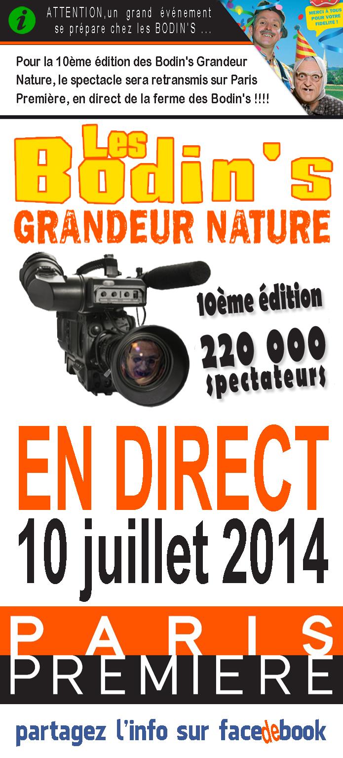 La 10ème édition de Grandeur Nature en DIRECT sur Paris Première