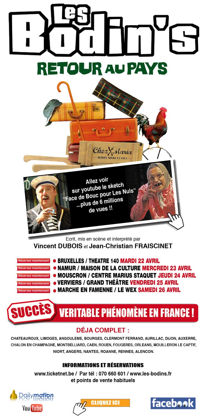 Les BODIN'S - Retour au pays / la tournée en Belgique