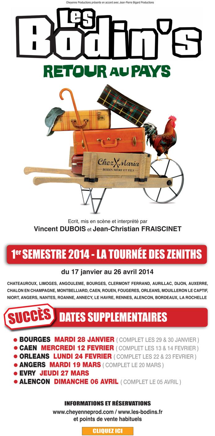 Tournée 2014 - Retour au Pays - Les Bodin's