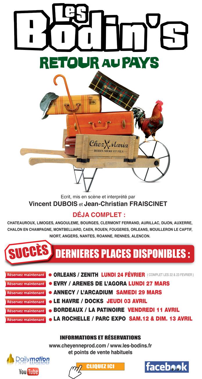 Les BODIN'S - Retour au pays / la tournée des Zéniths - les dernières places disponibles